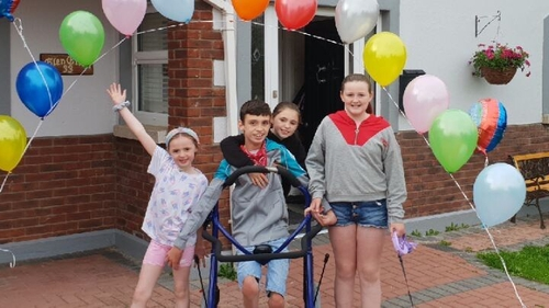 Jack O'Donovan, who has cerebral palsy,recently completed a 5km charity walk