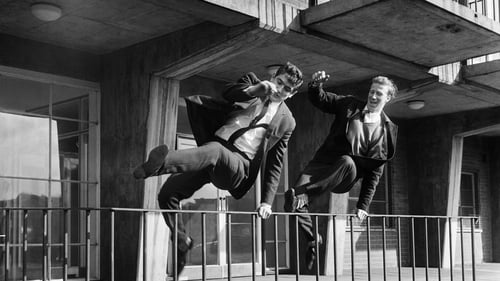 Norman Hunter and Jack Charlton in unison outside Elland Road in 1965