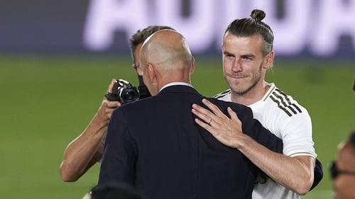 Zidane and Bale during the title celebrations