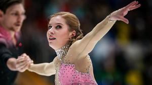 Ekaterina Alexandrovskaya competed with Harley Windsor at the 2018 PyeongChang Games