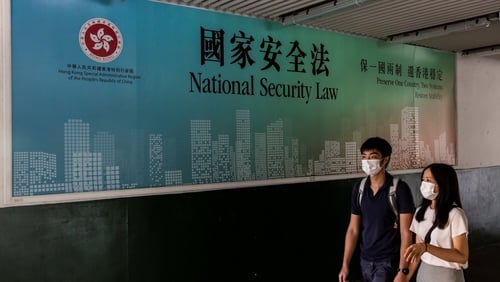 A new security law was passed in Hong Kong
