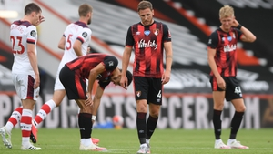 Bournemouth players were visibly dejected after the final whistle