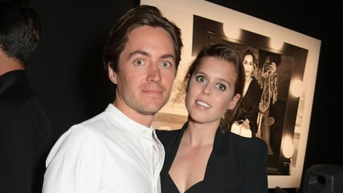 Edoardo Mapelli Mozzi and Princess Beatrice, photographed in London in July 2019