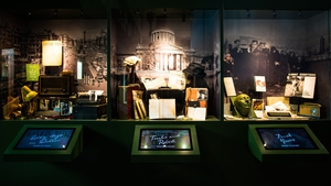 Personal photographs and letters, as well as interactive tables and touch screens, are used to celebrate the different stages of the poet's life