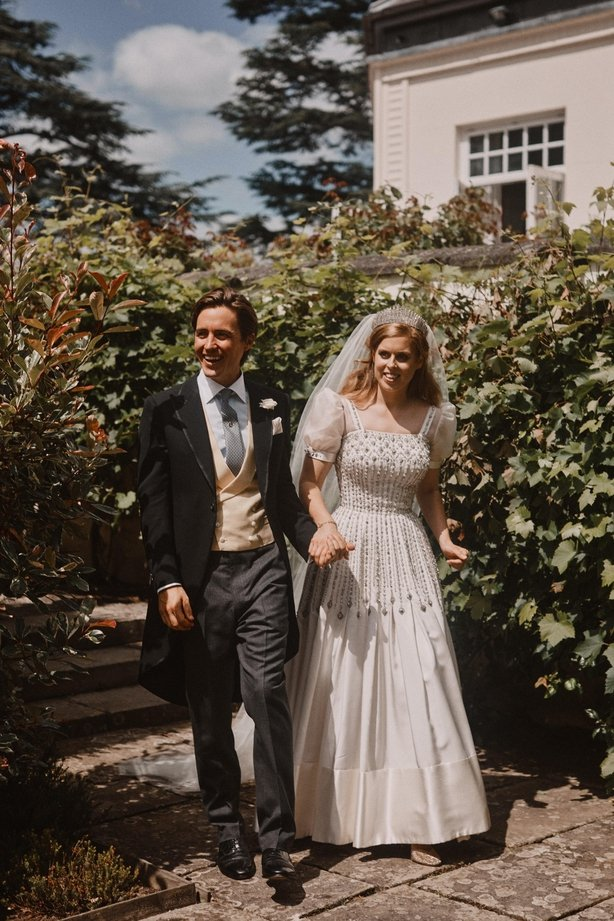 Beatrice and Mozzi after their wedding