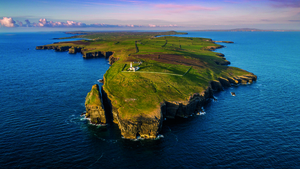 Loop Head Lighthouse, and highlighting climate change