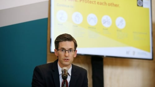 Dr Ronan Glynn said: 'We are now seeing outbreaks of the virus in a range of work settings'