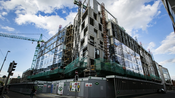 The site is operated by John Paul Construction on Townsend Street in Dublin (Pic: RollingNews.ie)