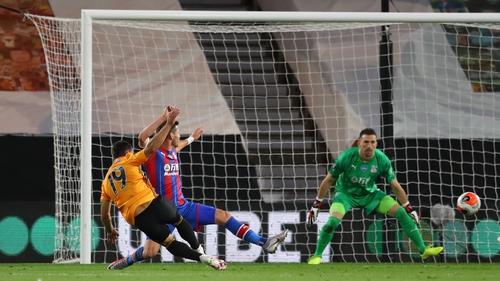 Wolves defender Jonny makes it 2-0 against Crystal Palace