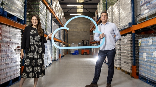 Iseult Ward, CEO and Co-Founder of FoodCloud and Andrew Shaw, Country Manager at Nestlé Ireland