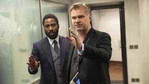 (L-R) John David Washington and Christopher Nolan on the set of Tenet Photos: Warner Bros