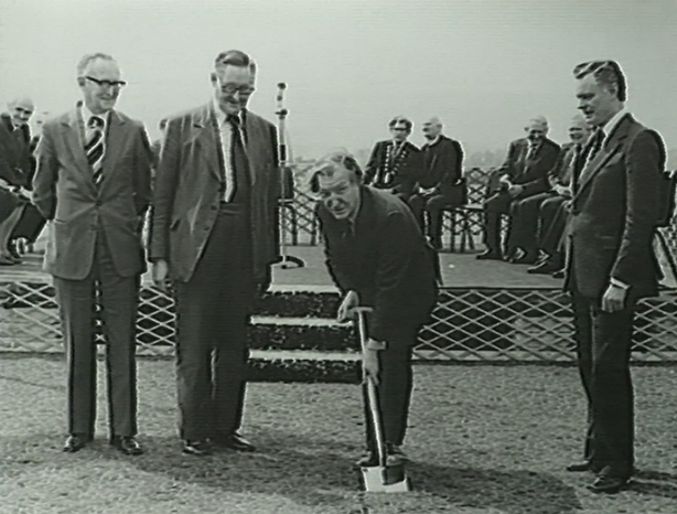 Charles Haughey turns the sod on Tralee Hospital (1978)