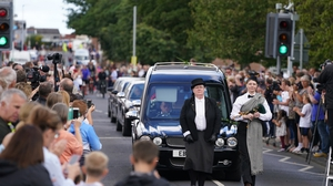 Crowds lined the streets and applause broke out for Jack Charlton