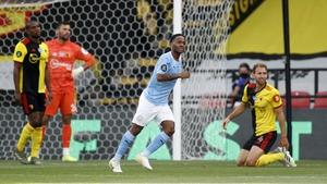 Raheem Sterling scored twice to increase Watford's relegation worries