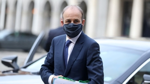 Micheál Martin arriving at Dublin Castle for the Cabinet meeting