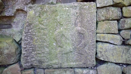 A Sheela-na-gig found at Balleen, Co Kilkenny