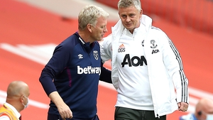 Solskjaer with West Ham counter part David Moyes