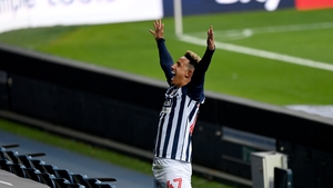Callum Robinson celebrates after giving West Brom the lead