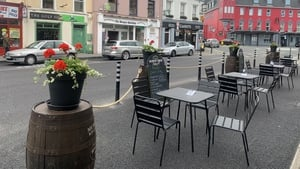 Some Killarney business owners have placed furniture on the street outside their premises