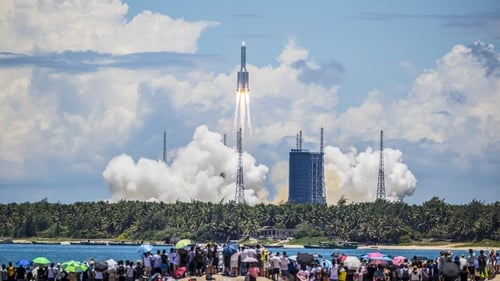 The Mars probe launched on a Long March 5 - China's biggest space rocket