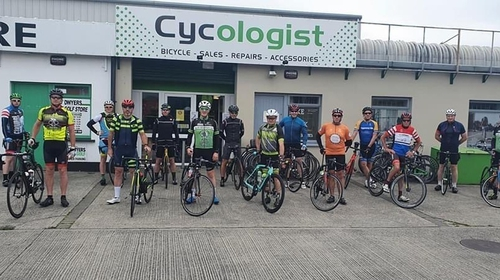 A number of officers set off from the Cycologist cycle store this morning