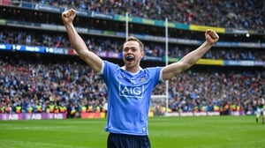 Rock shortly after kicking the winning point in the 2017 All-Ireland Final against Mayo