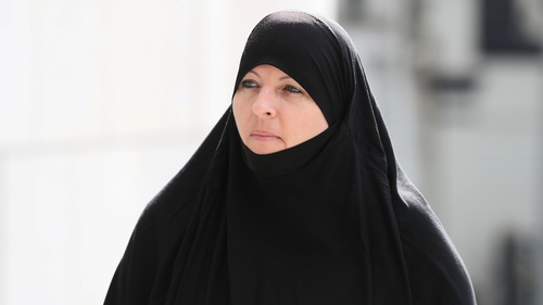 Lisa Smith pictured arriving at Dublin District Court on 24 July