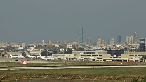 The flight was heading to Beirut on Thursday when the pilot had to avoid a collision wioth an F-15