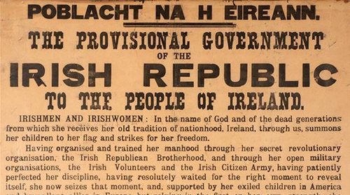A copy of the 1916 Proclamation sold for €190,000 today