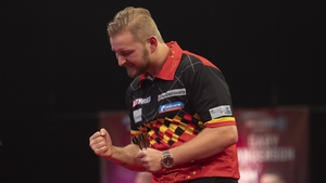 Dimitri van den Bergh is into the final in his first World Matchplay appearance