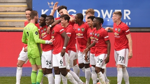 Manchester United were 14 points behind Leicester at one time