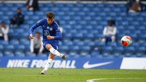 Mason Mount's free-kick gave Chelsea the lead as half-time approached
