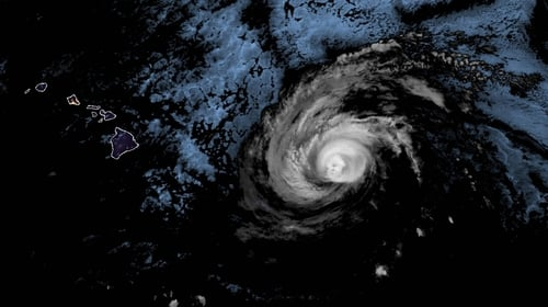 Satellite image of Hurricane Douglas as it approaches Hawaii