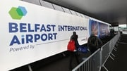 Passengers arriving at Belfast airport