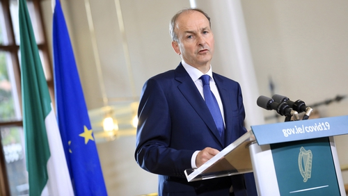 Taoiseach Micheál Martin wants PUP recipients to look for work (pic: Rollingnews.ie)