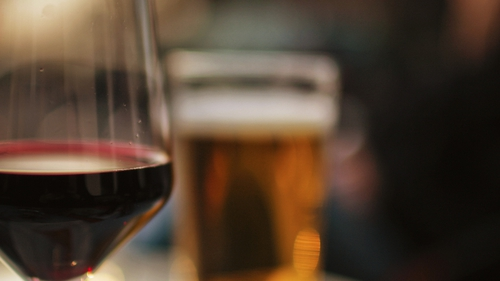 The report found women were more likely to drink wine, while men were more likely to drink beer