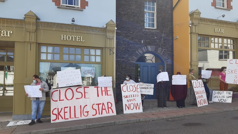 Residents are demanding to be moved to other direct provision centres