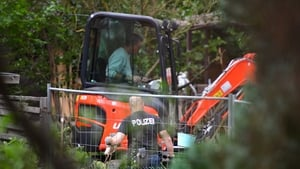 The allotment is being search as part of the investigation into the little girl's disappearance