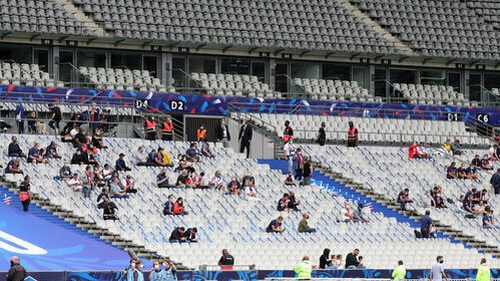 Fans at the Stade de France for the French Cup final