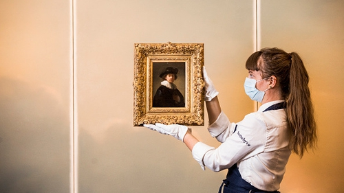 The painting went under the hammer at Sotheby's