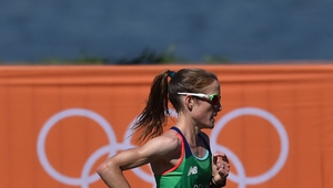 Fionnuala McCormack of Ireland competes during the Women's Marathon during the 2016 Rio Summer Olympic Games