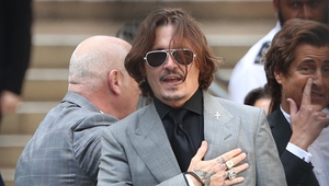 Johnny Depp pictured at the High Court in London during last July's hearing