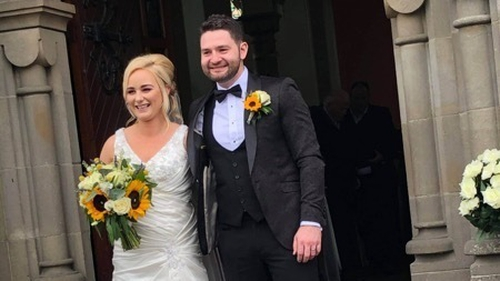 Ayla and Gary Donnelly had to reduce the number of guests for their wedding reception