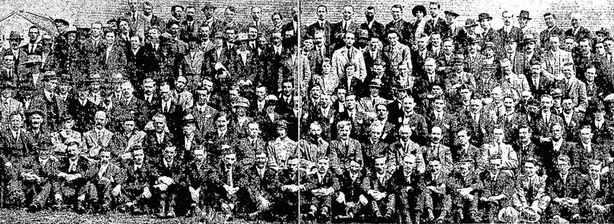 Group of delegates at the 1920 Irish Trades Union Congress in Cork Photo: Cork Examiner, 9 August 1920