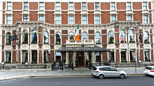 The statues had stood at the front of the hotel for 153 years