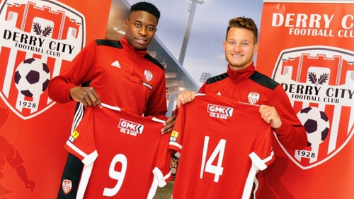 Derry City's new signings Ibrahim Meite and Jake Dunwoody