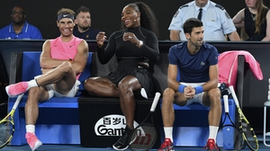 (L to R): Rafael Nadal, Serena Williams and Novak Djokovic