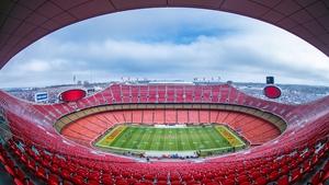 NFL action will kick off at an empty Arrowhead Stadium on 10 September