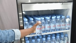 Sales at Danone's bottled water division sank by 28%