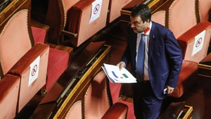 Matteo Salvini told the senate that he was 'proud to have defended Italy'